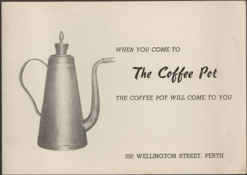 Coffee pot ad c. 1956