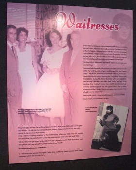 Panel about the renowned waitresses of the Coffee Pot cafe
