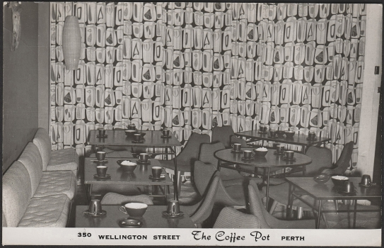 The coffee pot interior c. 1956