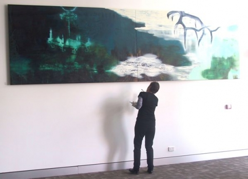 touching up Lake Louise at South Perth Civic Centre 2011