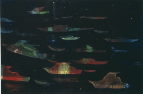 boats at night Geordie Bay